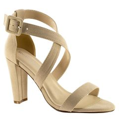 Colbie Beige Imit. Suede Open Toe Womens Evening / Prom Sandals - Shoes from Touch Ups by Benjamin Walk