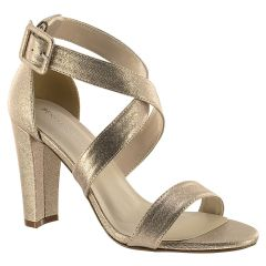Colbie Champagne Shimmer Open Toe Womens Evening / Prom Sandals - Shoes from Touch Ups by Benjamin Walk