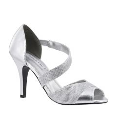 Adeline Silver Shimmer Open Toe Womens Prom Sandals - Shoes from Touch Ups by Benjamin Walk