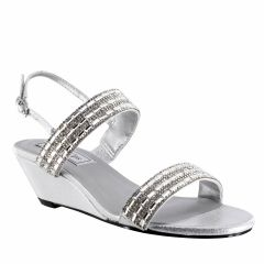 Allison Silver Shimmer Open Toe Womens Destination / Prom Sandals - Shoes from Touch Ups by Benjamin Walk