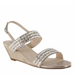 Allison Champagne Shimmer Open Toe Womens Destination / Evening / Prom Sandals - Shoes from Touch Ups by Benjamin Walk