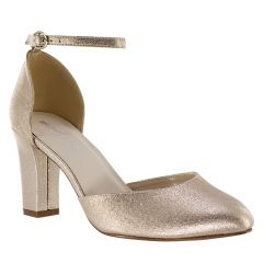 Amanda Champagne Shimmer Open Toe Womens Evening / Prom Pumps - Shoes from Touch Ups by Benjamin Walk