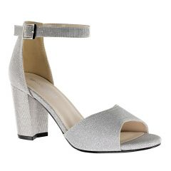 Amaya Silver Glitter Open Toe Womens Prom Sandals - Shoes from Touch Ups by Benjamin Walk