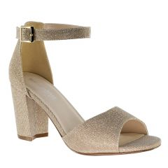Amaya Champagne Glitter Open Toe Womens Evening / Prom Sandals - Shoes from Touch Ups by Benjamin Walk
