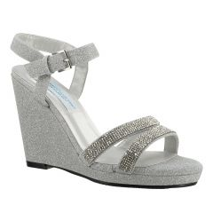 Amy Silver Glitter Open Toe Womens Prom Sandals - Shoes from Dyeables by Benjamin Walk