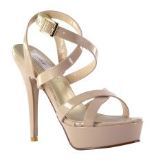 Andrea Nude Patent Open Toe Womens Pageant / Evening / Prom Sandals - Shoes from Touch Ups by Benjamin Walk