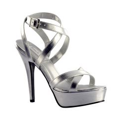 Andrea Silver Metallic Open Toe Womens Prom Sandals - Shoes from Touch Ups by Benjamin Walk