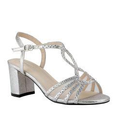 Anna Silver Womens Open Toe Evening|Prom Sandal -  Shoes from Touch Ups by Benjamin Walk