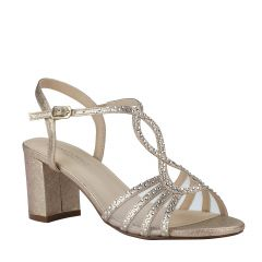 Anna Champagne Womens Open Toe Evening|Prom Sandal -  Shoes from Touch Ups by Benjamin Walk