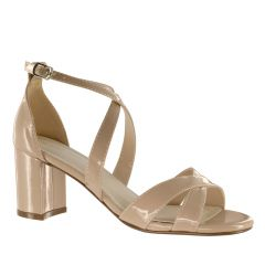 Audrey Nude Patent Open Toe Womens Pageant / Evening / Prom Sandals - Shoes from Touch Ups by Benjamin Walk