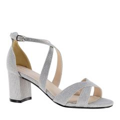 Audrey Silver Glitter Open Toe Womens Prom Sandals - Shoes from Touch Ups by Benjamin Walk