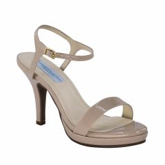 Aurora Nude Patent Open Toe Womens Pageant / Evening / Prom Sandals - Shoes from Dyeables by Dyeables
