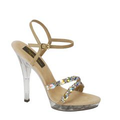 Austria Taupe Suede Open Toe Womens Pageant / Evening / Prom Sandals - Shoes from Johnathan Kayne by Benjamin Walk