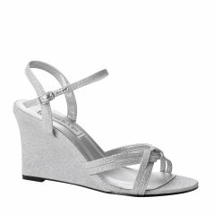 Buffy Silver Glitter Open Toe Womens Prom Sandals - Shoes from Touch Ups by Benjamin Walk