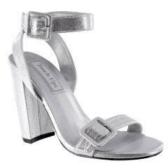 Calista Silver Shimmer Open Toe Womens Prom Sandals - Shoes from Touch Ups by Benjamin Walk