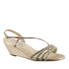 Celeste Champagne Shimmer Open Toe Womens Evening / Prom Sandals - Shoes from Touch Ups by Benjamin Walk