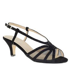 Clara Black Lamy Open Toe Womens Evening Sandals - Shoes from Touch Ups by Benjamin Walk