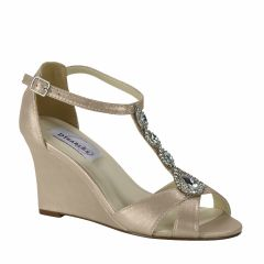 Codi Nude Shimmer Open Toe Womens Evening / Prom Sandals - Shoes from Dyeables by Dyeables