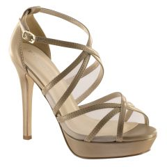 Corri Taupe PU Open Toe Womens Pageant / Evening / Prom Sandals - Shoes from Touch Ups by Benjamin Walk