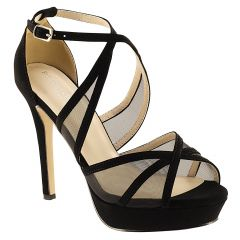 Corri Black Lamy Open Toe Womens Evening Sandals - Shoes from Touch Ups by Benjamin Walk