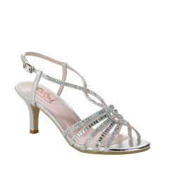 D101 Silver Glitter Open Toe Womens Prom Shoes from Diva by Benjamin Walk