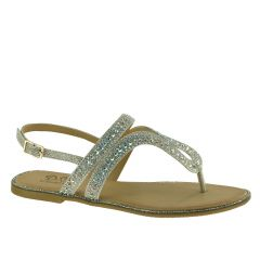 D111 Silver Glitter Open Toe Womens Destination / Prom Shoes from Diva by Benjamin Walk