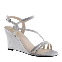 D119 Silver Glitter Open Toe Womens Prom Sandals - Shoes from Diva by Benjamin Walk