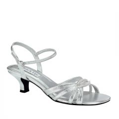 Dakota Silver Metallic Open Toe Womens Prom Sandals - Shoes from Touch Ups by Benjamin Walk