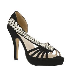 Delaney Black Womens Open Toe Evening|Prom Platform|Sandal -  Shoes from Touch Ups by Benjamin Walk