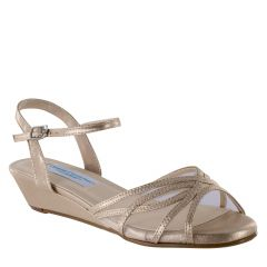 Desi Nude Shimmer Open Toe Womens Evening / Prom Sandals - Shoes from Comfort Collection by Benjamin Walk