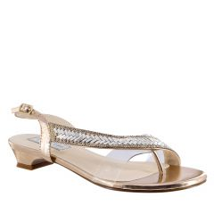 Eleanor Rose Gold Mirror Open Toe Womens Destination / Evening / Prom Sandals - Shoes from Touch Ups by Benjamin Walk