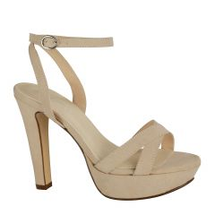 Elena Beige Womens Open Toe Pageant|Evening|Prom Platform|Sandal -  Shoes from Touch Ups by Benjamin Walk