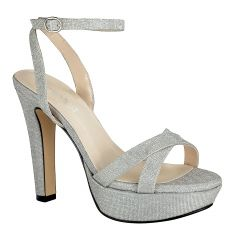 Elena Silver Womens Open Toe Evening|Prom Platform|Sandal -  Shoes from Touch Ups by Benjamin Walk
