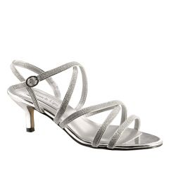 Emery Silver Glitter Open Toe Womens Prom Sandals - Shoes from Touch Ups by Benjamin Walk