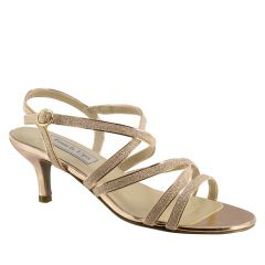 Emery Rose Gold Glitter Open Toe Womens Evening / Prom Sandals - Shoes from Touch Ups by Benjamin Walk
