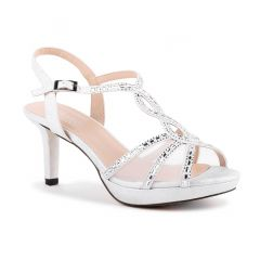 Estelle Silver Womens Open Toe Evening|Prom Platform|Sandal -  Shoes from Paradox London by Benjamin Walk