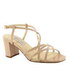 Eva Nude Patent Open Toe Womens Evening / Prom Sandals - Shoes from Touch Ups by Benjamin Walk