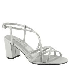 Eva Silver Shimmer Open Toe Womens Prom Sandals - Shoes from Touch Ups by Benjamin Walk