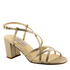 Eva Champagne Shimmer Open Toe Womens Evening / Prom Sandals - Shoes from Touch Ups by Benjamin Walk