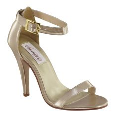 Faith Nude Metallic Open Toe Womens Evening / Prom Sandals - Shoes from Dyeables by Dyeables