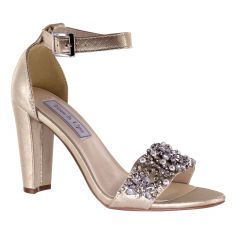 Felicity Nude Shimmer Open Toe Womens Evening / Prom Sandals - Shoes from Touch Ups by Benjamin Walk