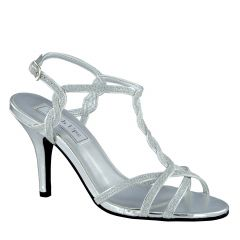 Fran Silver Glitter Open Toe Womens Prom Sandals - Shoes from Touch Ups by Benjamin Walk