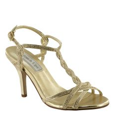 Fran Gold Glitter Open Toe Womens Evening / Prom Sandals - Shoes from Touch Ups by Benjamin Walk