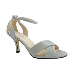 Freya Silver Glitter Open Toe Womens Prom Sandals - Shoes from Touch Ups by Benjamin Walk