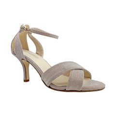 Freya Champagne Glitter Open Toe Womens Evening / Prom Sandals - Shoes from Touch Ups by Benjamin Walk