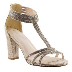 Gabriella Champagne Shimmer Open Toe Womens Evening / Prom Sandals - Shoes from Touch Ups by Benjamin Walk