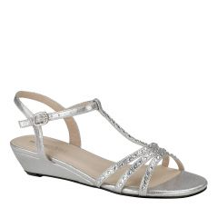 Hailey Silver Womens Open Toe Evening|Prom Sandal -  Shoes from Touch Ups by Benjamin Walk