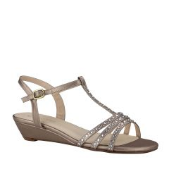 Hailey Champagne Womens Open Toe Evening|Prom Sandal -  Shoes from Touch Ups by Benjamin Walk