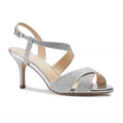 Hogan Silver Glitter Open Toe Womens Prom Sandals - Shoes by Paradox London