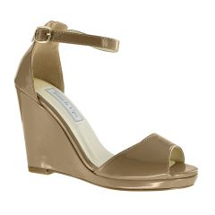 Holly Dark Nude Patent Open Toe Womens Pageant / Evening / Prom Sandals - Shoes from Touch Ups by Benjamin Walk